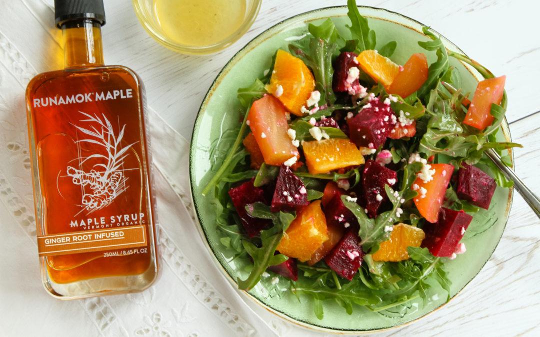 Maple vinaigrette salad by Runamok Maple