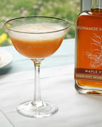Ginger maple cocktails by Runamok Maple