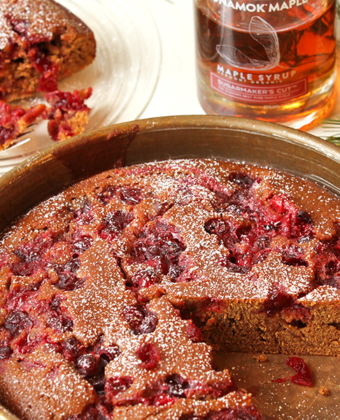 Maple Cranberry Gingerbread by Runamok Maple