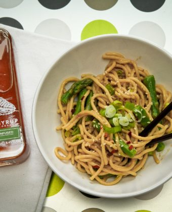 Maple syrup sesame noodles by Runamok Maple