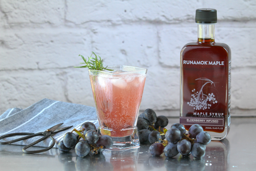 Elderberry Maple Mocktail by Runamok Maple