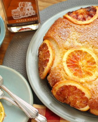 Maple and Orange Tea cake by Runamok Maple