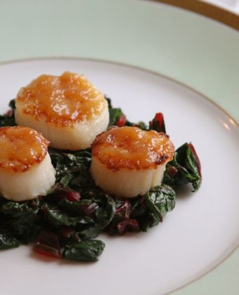 Maple syrup and scallops by Runamok Maple