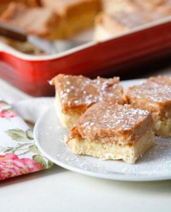 Rhubarb maple squares by Runamok Maple