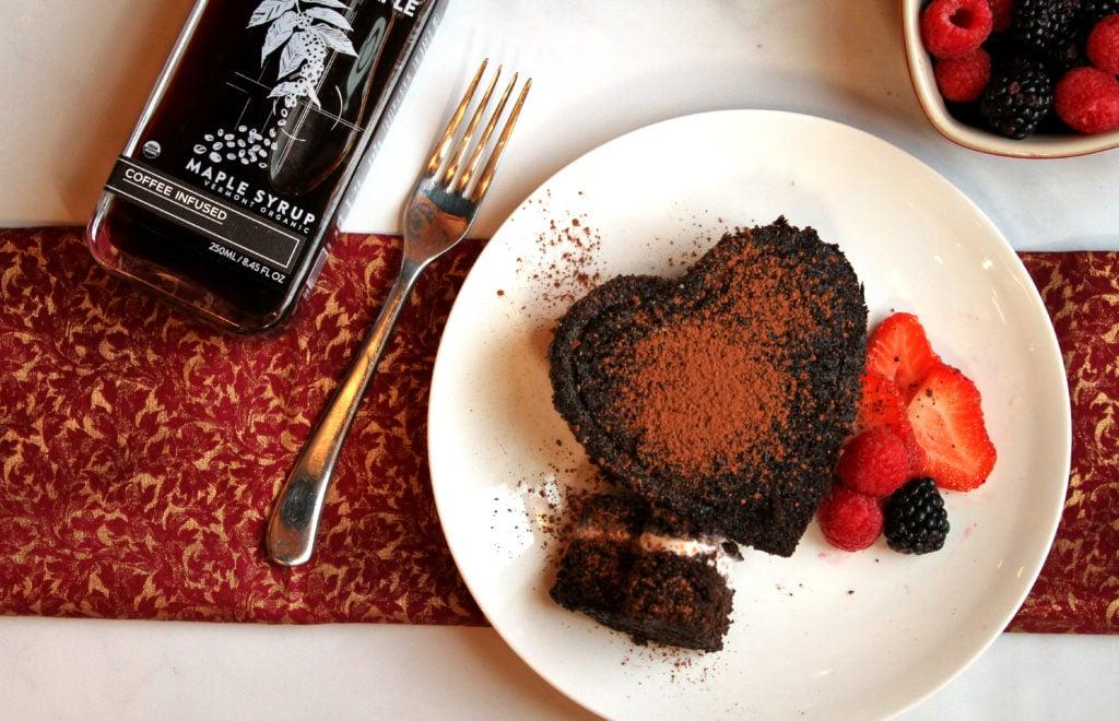 Chocolate Ice Cream Cake with Coffee Infused