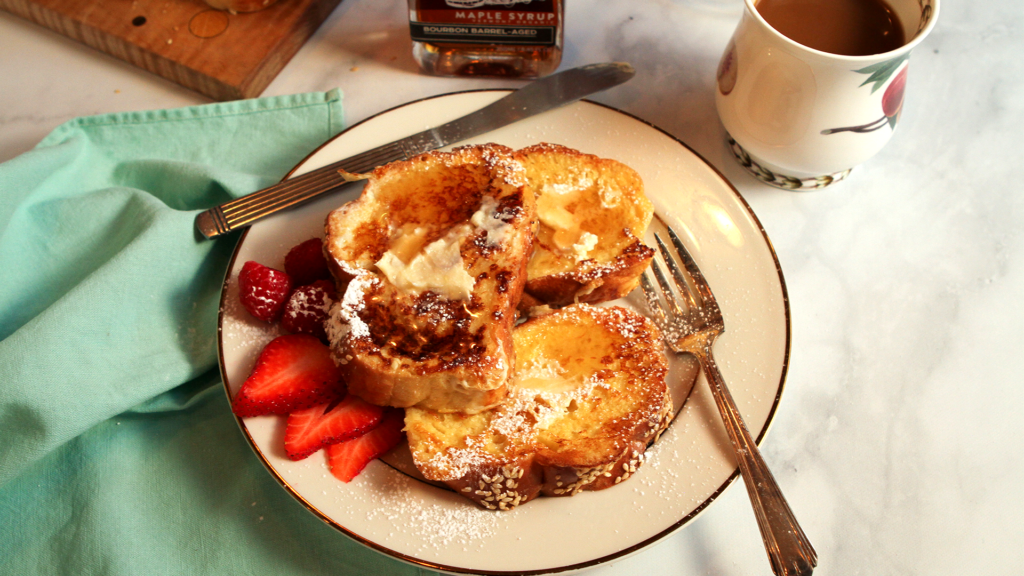 Challah French Toast by Runamok Maple