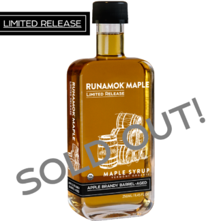 Apple Brandy Barrel aged Maple Syrup by Runamok Maple