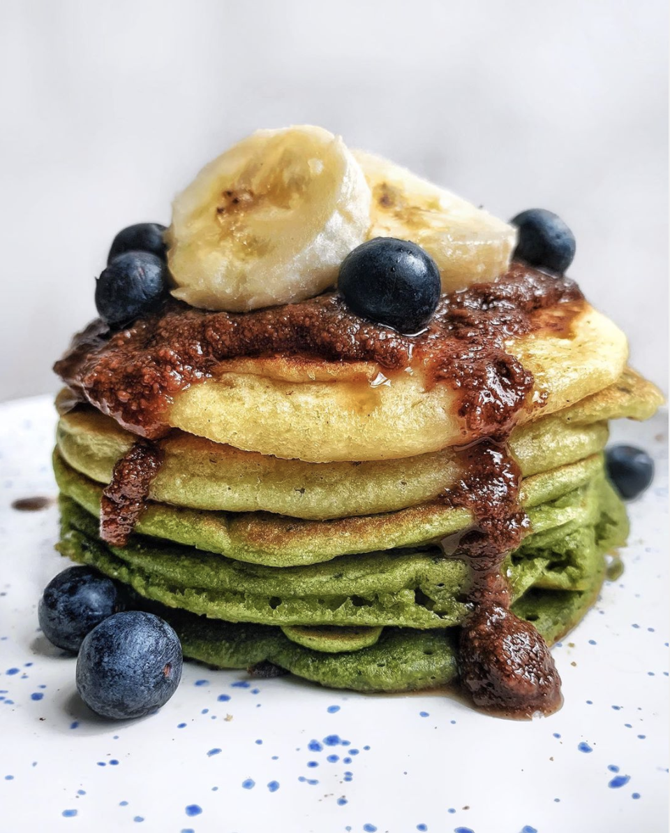 shiveggie rainbow pancakes