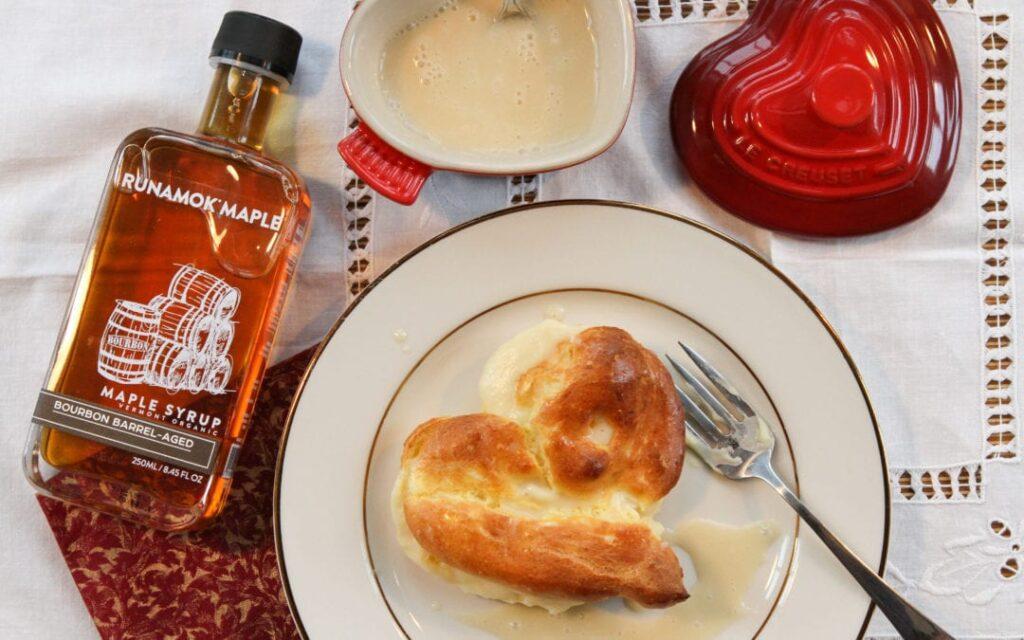maple cream profiteroles