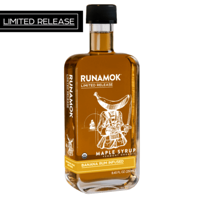 Banana Rum Infused Maple Syrup by Runamok